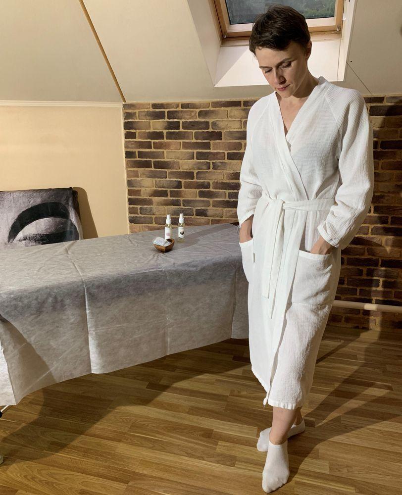 Халат для клиентов из вафельной ткани