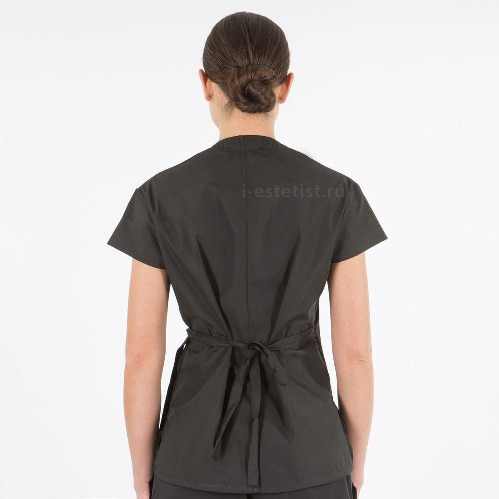 Блуза хлопок женская чёрная
