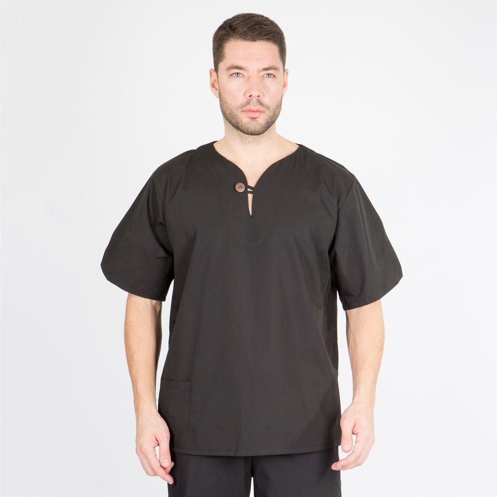 Блуза хирургическая чёрная (хлопок)