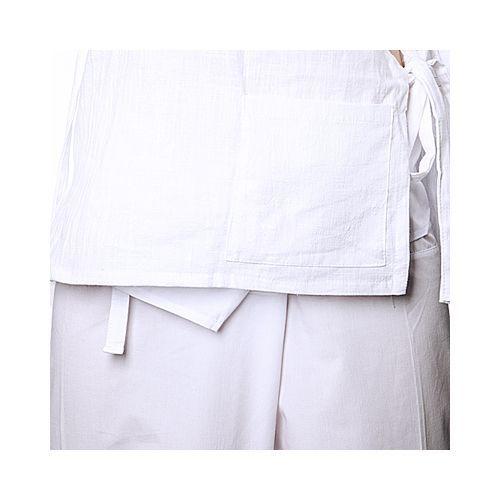 Блуза мужская белая (хлопок)