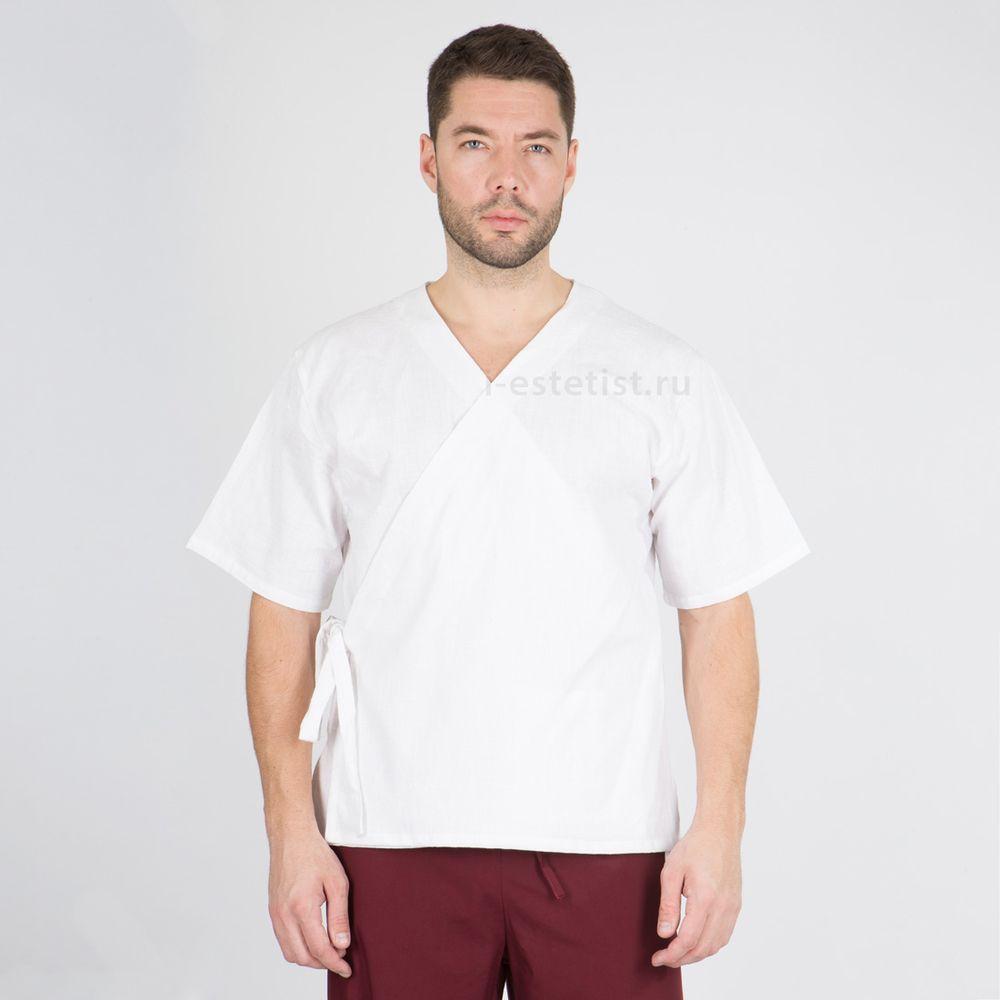 Блуза мужская на запахе (ТС plus size)