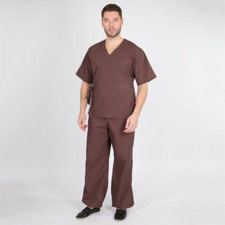 Блуза мужская на запахе (ТС). Одежда для массажистов. Магазин «Я — эстетист»