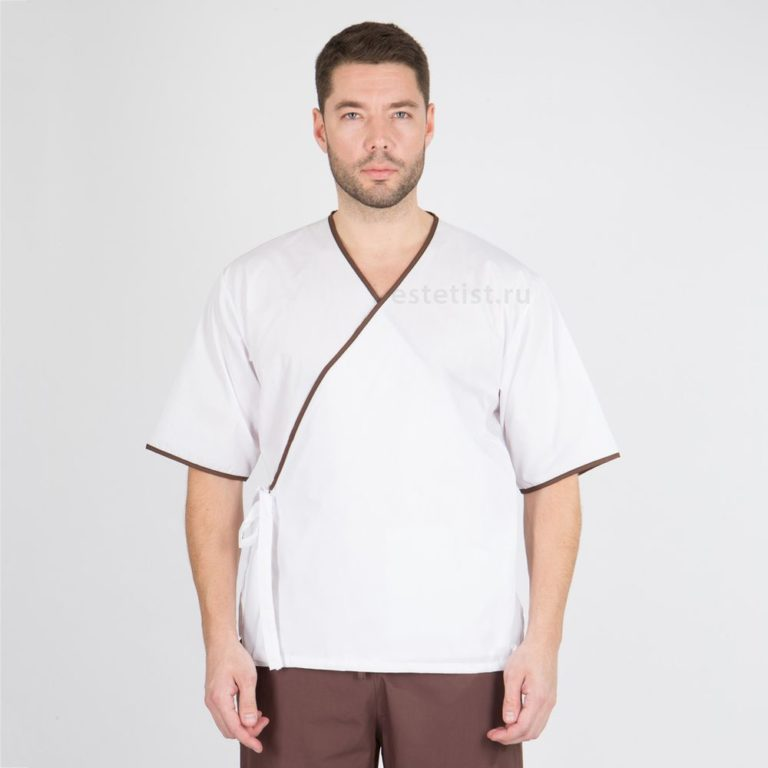 Блуза мужская с европейским кантом (ТС)
