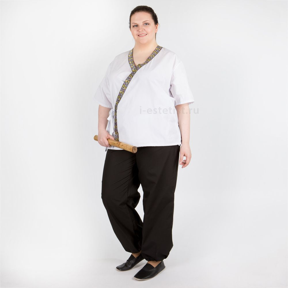 Блуза мужская с азиатским кантом (ТС plus size)