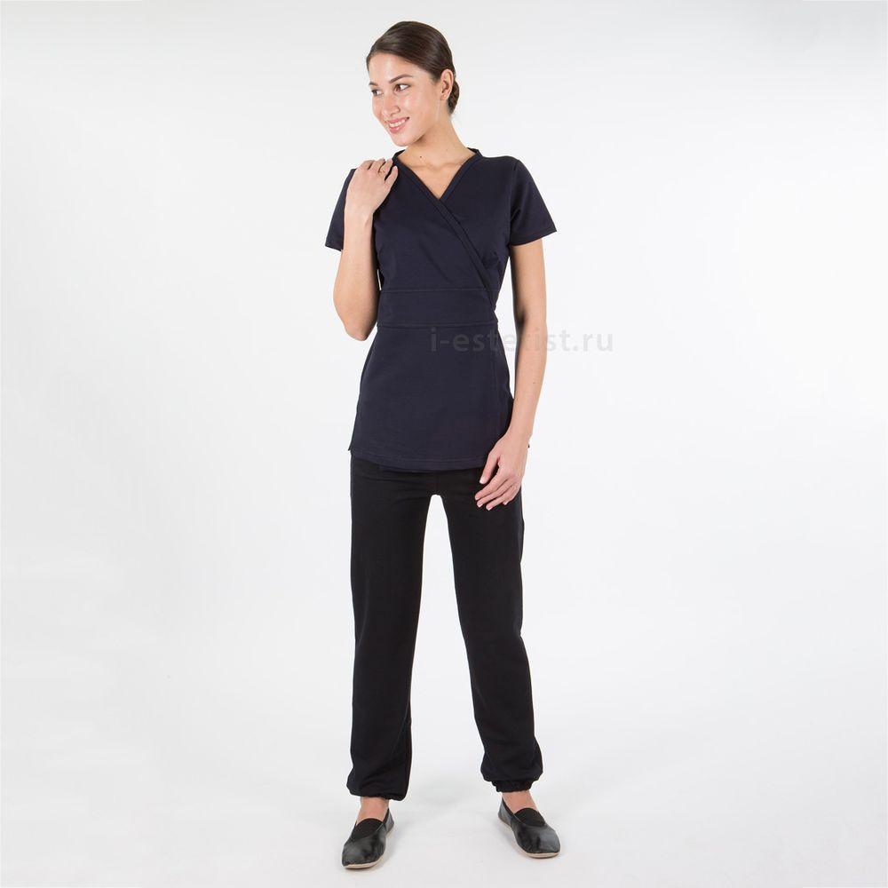 Блуза женская (плотный трикотаж. синий)