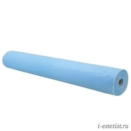 Простыни в рулоне голубые  70х200 см (50 шт. плотность 20)