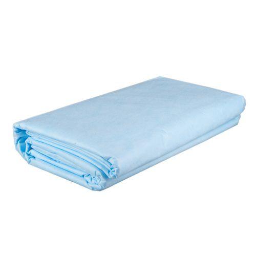 Простыни одноразовые голубые 140х200 см (10 шт)