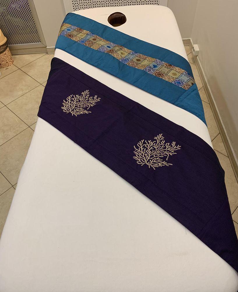Шелковая накидка-полоса на массажный стол