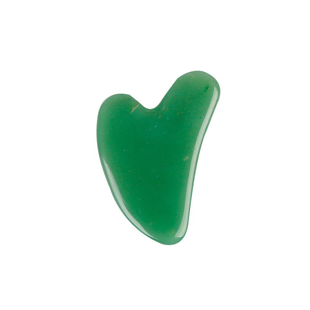 Скребок гуаша Сердце (нефрит)
