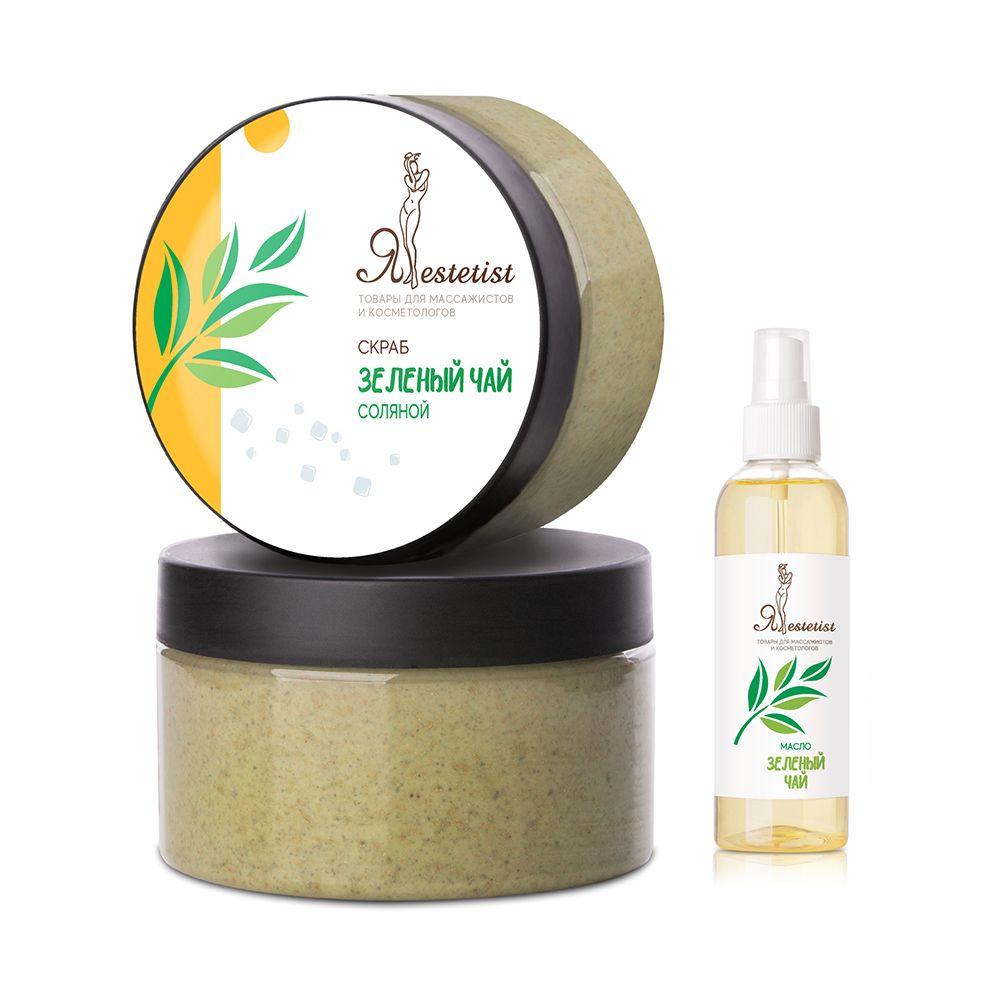 Скраб для тела соляной «Зеленый чай» (250-1000 мл+100 мл)