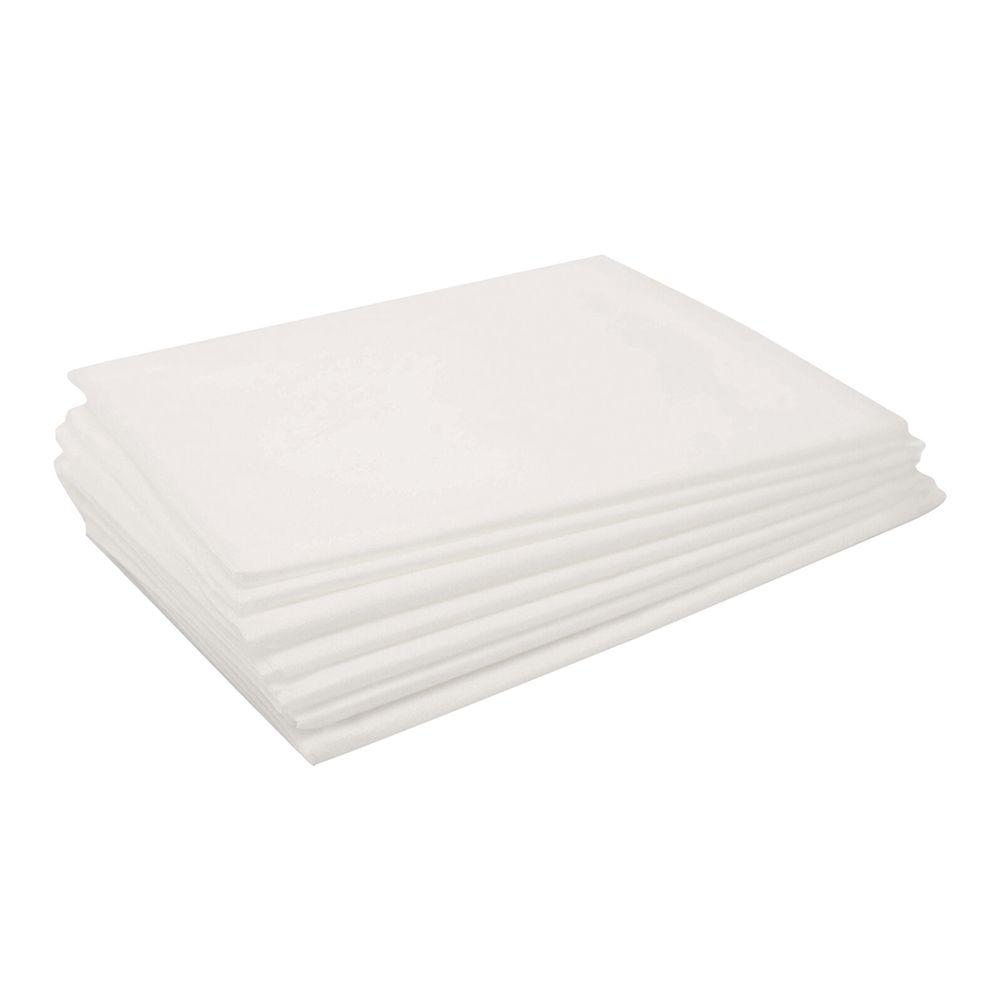 Простыни одноразовые белые 70х200 см (50 шт)