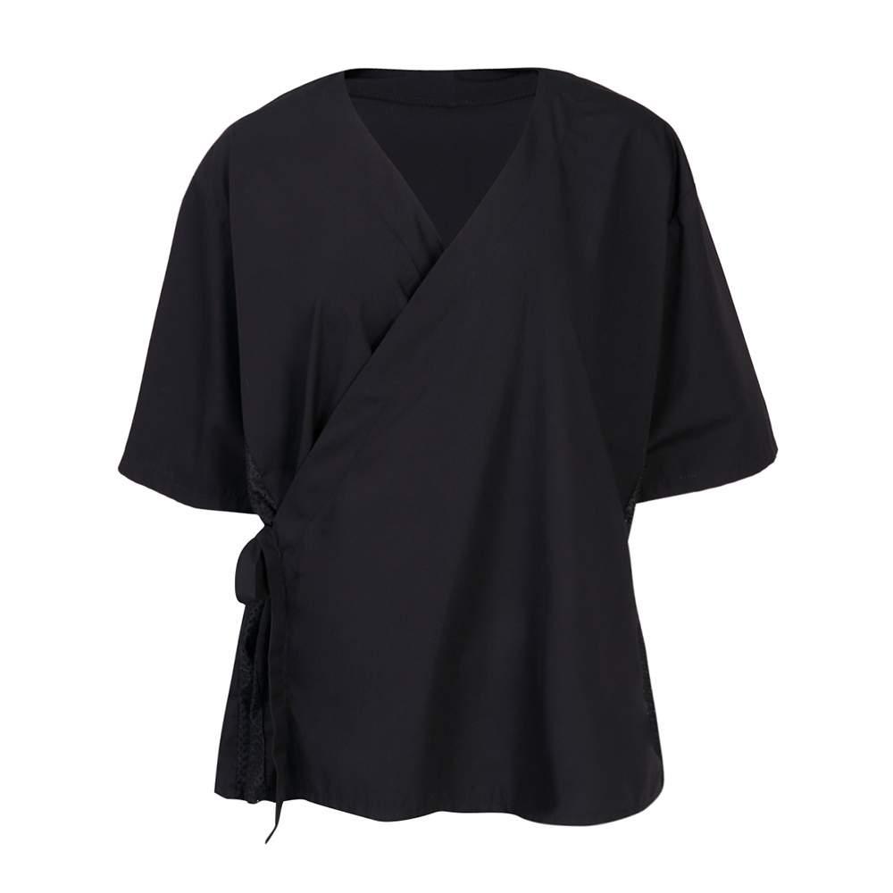 Блуза мужская на запахе с сеткой (ТС)